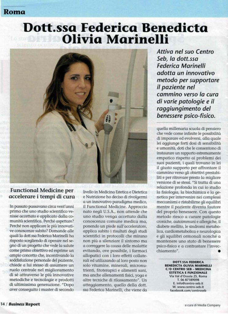 centro-seb-articolo-su-roma-business-report-medical-directory-sole-24-ore-2017